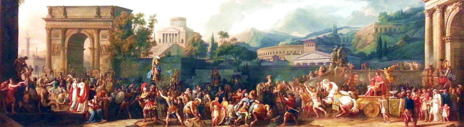СЕНАТОР представляет: картина торжественного триумфа Эмилия Павла в Риме — The Triumph of Aemilius Paulus