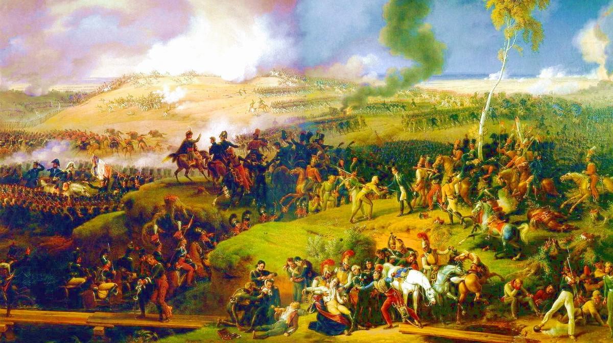 Картина «Битва за Москву, 7 сентября 1812 года» (1822 г.) — художник барон Луи-Франсуа Лежен.