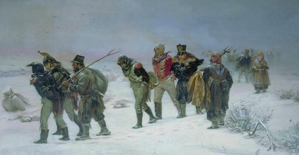 Картина «В 1812 году» (1874) художника Иллариона Михайловича Прянишникова (1840-1894) — русского художника-педагога, мастера жанровой живописи, действительного члена Петербургской академии художеств (с 1893), он был одним из основателей товарищества Передвижников.