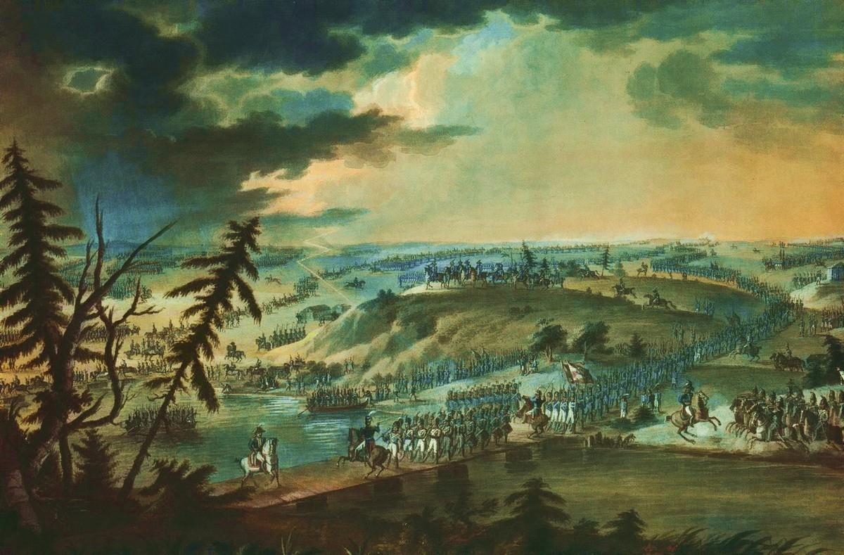 Переправа Итальянского корпуса Евгения Богарне через Неман 30 июня 1812 года